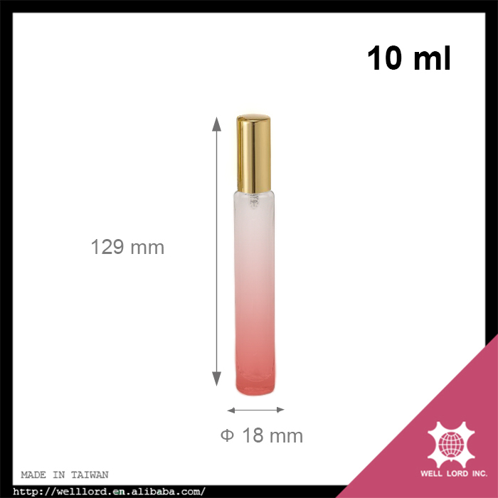 Girls' collection 10ml pink gradient gold aluminum cap pump spray