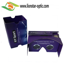 2017 New promotional use 3D Cardboard glasses /Google Cardboard V2 virtual reality headset
