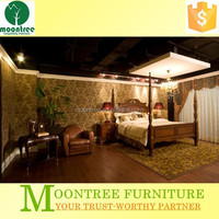 Moontree MBR-1360 solid wood carving bedroom furniture