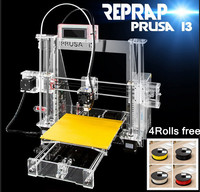4 Rolls filament+8GSD card as gift !!! Brand New Reprep Prusa i3 3d printer DIY machine with teaching video and software