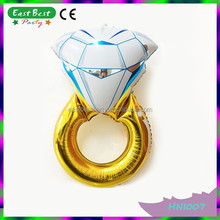 Wedding Engagement Hen Party Decoration Fake Diamond Ring Foil Helium Balloon