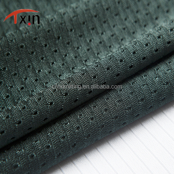 moisture wicking 100 polyester light weight mesh fabric basketball vest fabric for sportswear