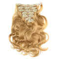 alibaba china clip in hair extensions beige blonde, 200g remy clip in hair extension