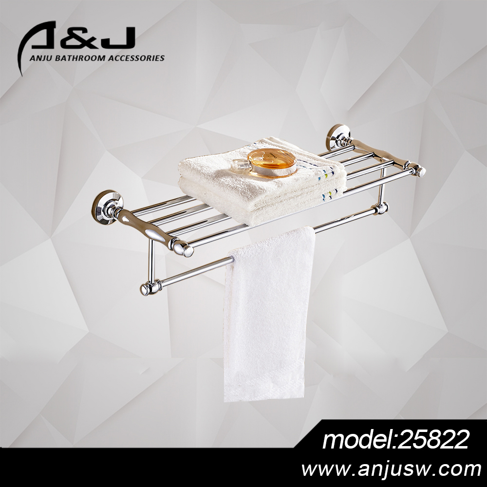 New Bathroom Towel Shelf Sanitary Ware Products Factory Production Towel Rack Brass Bathroom Accessories
