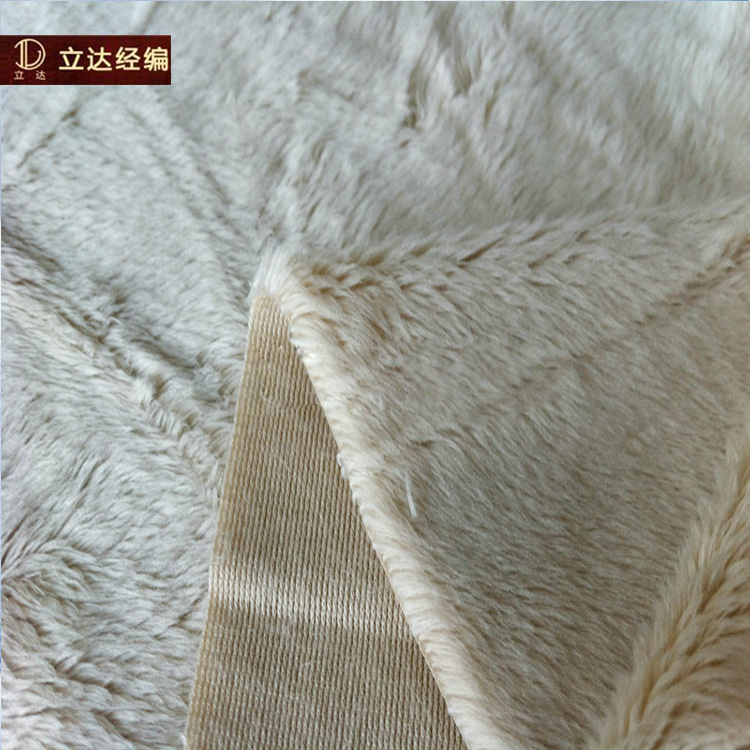 Promotional Top Quality tricot short plush alova fabric