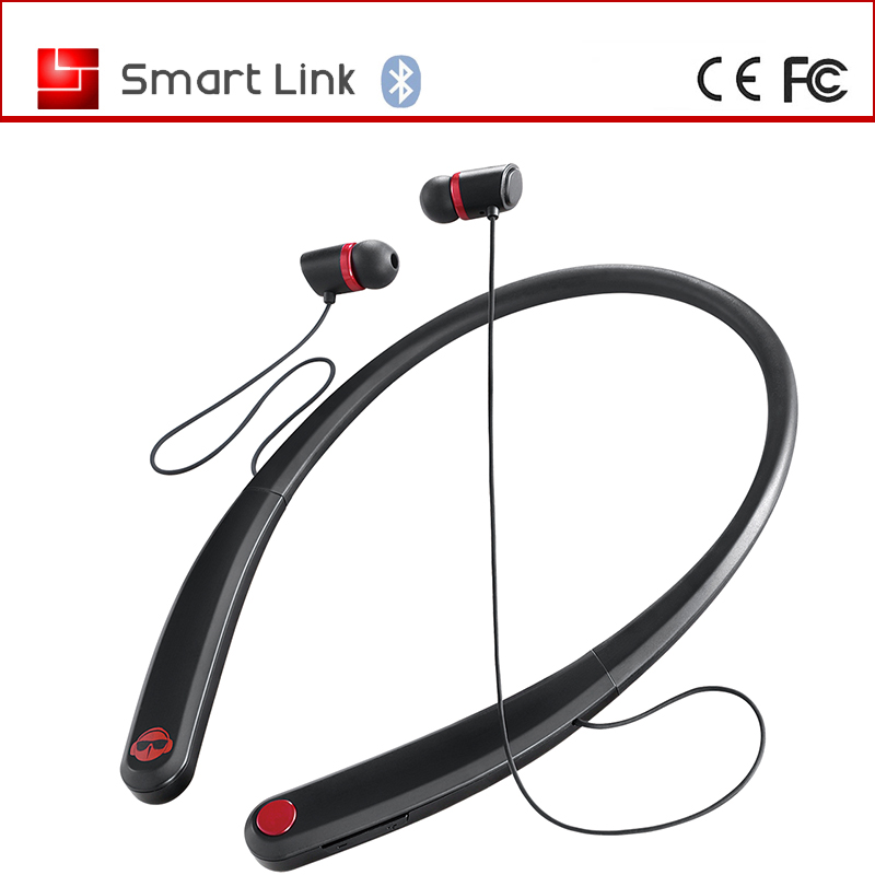 2017 new sport neckband wireless earphones bluetooth with microphone for mobile watch phones