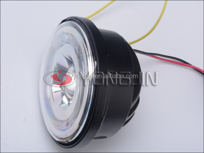 Auto parts motorcycle led headlight with halo ring 4.5 inch motorcycle head lamp for harley davidson