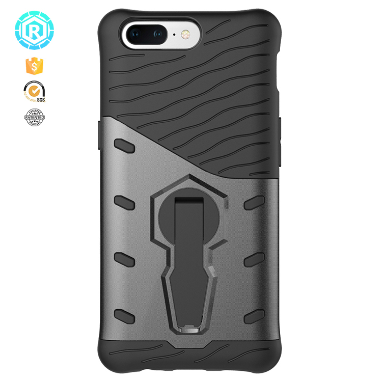 Rugged armor tpu pc sniper tough case for oneplus 5 back cover with rotating kickstand case for one plus 5