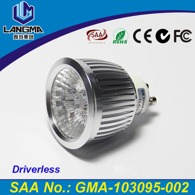 Narrow beam angle 38 degree 2800k warm white round led ceiling light gu10 6w hotel light fittings