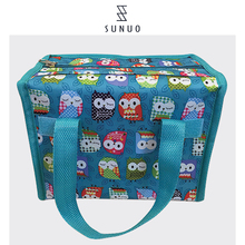 beautiful waterproof floral logo lunch bag foldable cooler foil bag seat