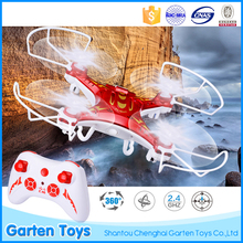 Hot sale gift long range electric plastic 2.4g 4CH rc drone aircraft toy