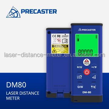 Laser meter distance 80m handheld instruments DM80 measure Area,Volume,Pythagorean used in indoor, civil construction tools