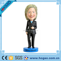 Alibaba express America compaign looklife resin figurine Hillary Clinton bobble head