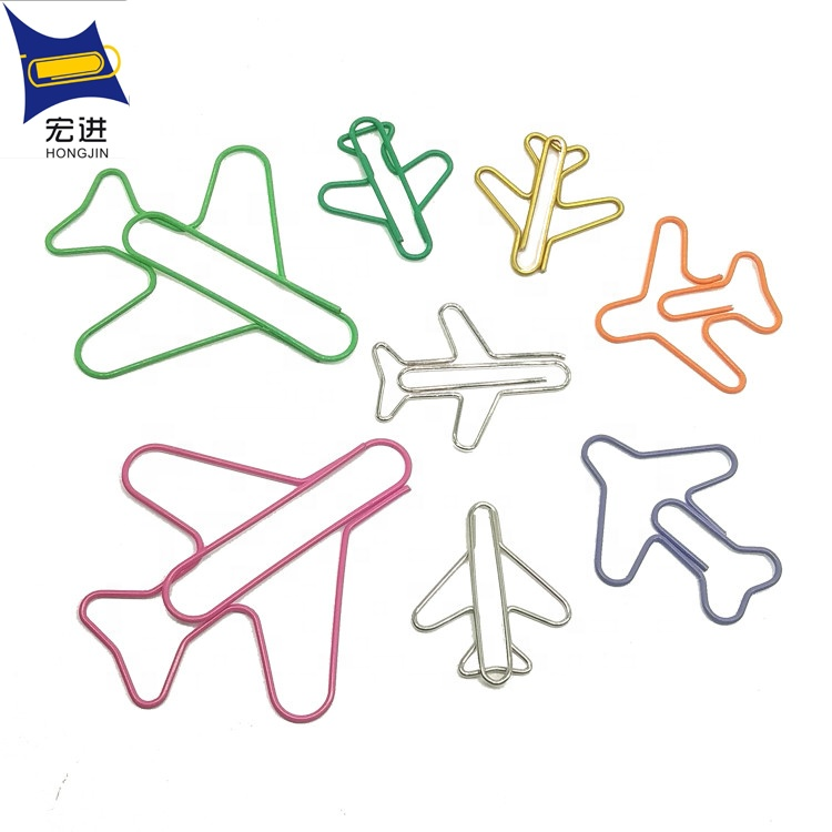 plastic coat custom fancy airplane shape logo paper <strong>clip</strong>