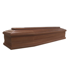Funeral solid wooden coffin and wood casket