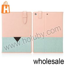 Smart Cover for iPad Air,Rock Peace Series Two-Tone Style Magnetic Stand Flip TPU+Leather Case for iPad Air