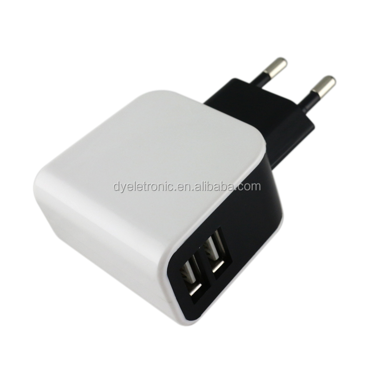 EG Plug AC Universal Power Dual USB Port(1A + 2.1A) Home /Wall/Travel Power Charger for iPhone,iPad