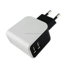 EG Plug AC Universal Power Dual Usb-poort (1A + 2.1A) Home/Muur/Travel Power Charger voor iPhone, iPad