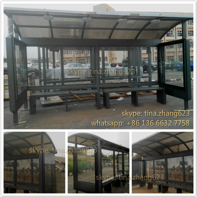 Africa OEM Nice Design Street Furniture Modern Bus Shelter