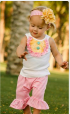 2016 little girls summer clothes shorts and pants outfits girls ruffle shorties outfit
