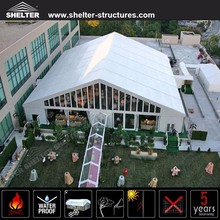 China mixed wedding marquee tent with wedding decoration