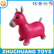 plastic inflatable bouncing ride cartoon animal horse toy