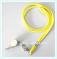 plastic/metal whistle with lanyard for sports meeting