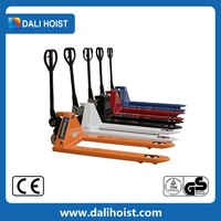 Hot sale hand pallet truck with brake steering wheel