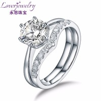 VS Clarity 73 Points Natural Diamond Ring 18K Pure Gold Jewellery