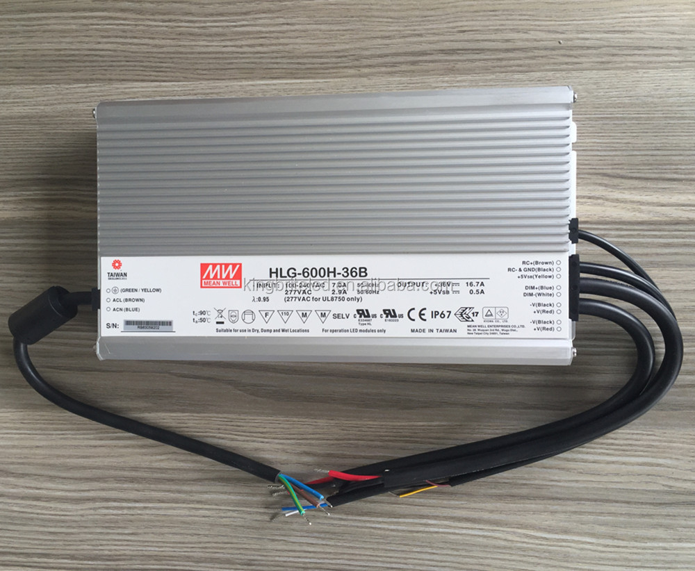 Meanwell HLG-600H-36B, 36v dimming led driver for CREE CXB3590