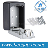 YH9228 Digit Wall Mounted Key Storage Box /Zinc Alloy Combination Lock With Fixing Screws