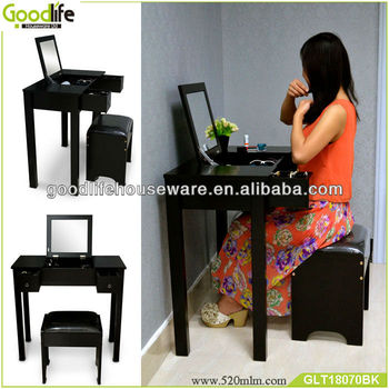 Wholesale Wooden Dressing Table for Lady Lipstick Holder