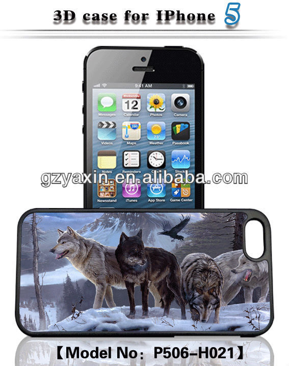 Fantastic case for phone with 3d image,Fashion Design 3D Phone Cases for iPhone 5
