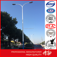 Street Lighting Steel Pole Lamp Post with Galvanization and Powder Coated