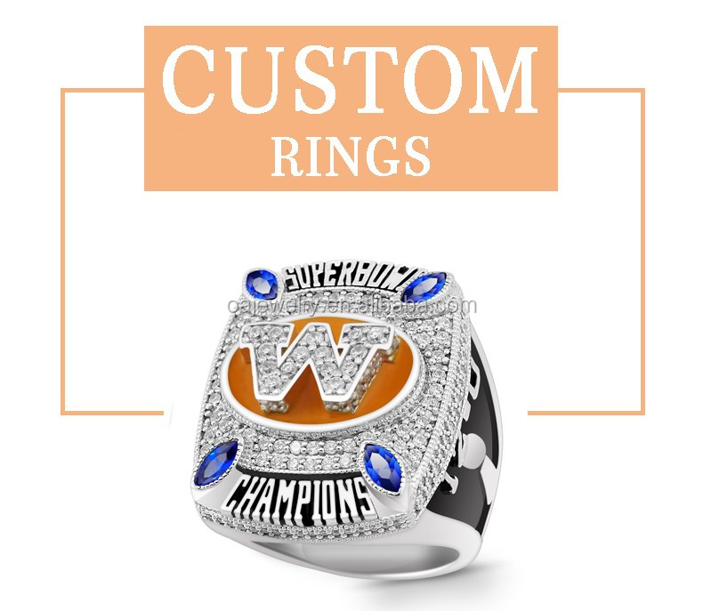 Customized brass national championship ring american football trophy ring