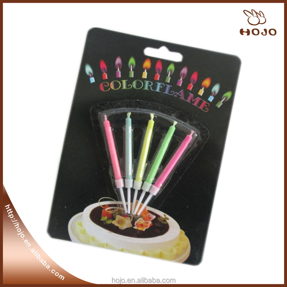 birthday party color candle magic colored flames candles wholesale home decoration 5packs (5pcs/pack)