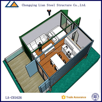 Flat pack new design modular tiny container house for office