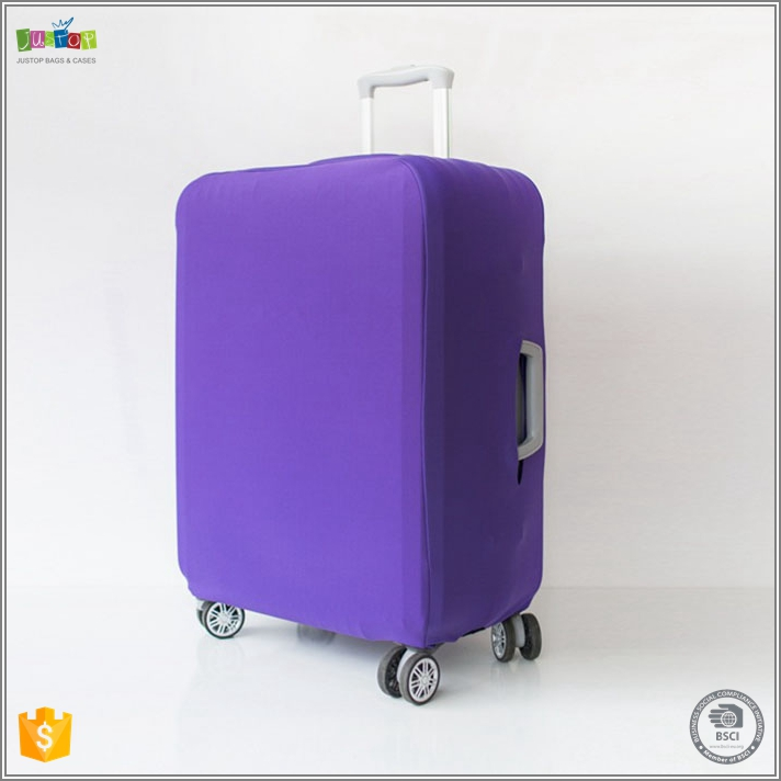 Justop Promotional customized printed suitcase bag stretch luggage cover
