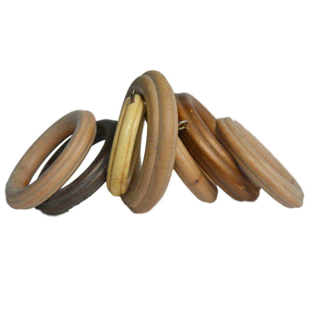 fluted Wood Ring for Window Curtain Decoration (not export alone)