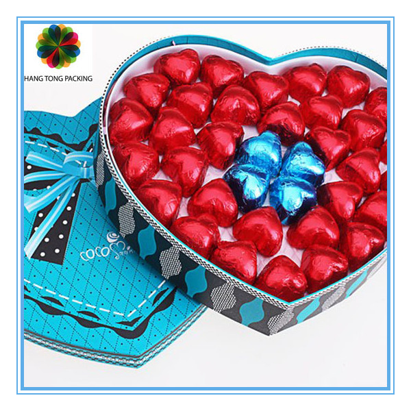 Popular different sweet chocolate paper box design wholesale