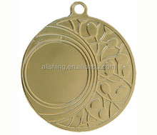 Blank sport medals/cheap sport medals blank sliver brass and gold color