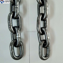 18 mm black construction mining welded alloy steel grade 80 link chain