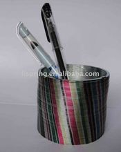 metal slinky pen holder