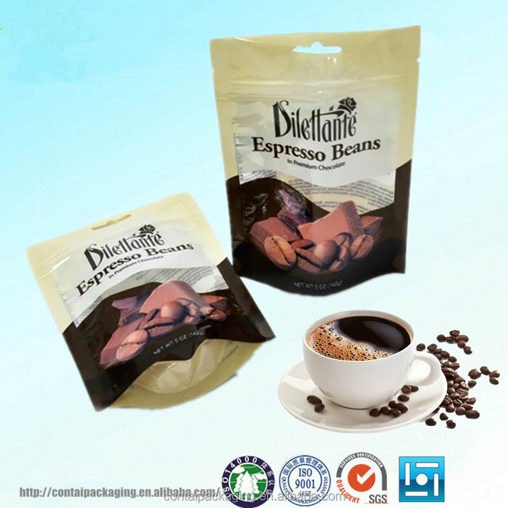 2015 Hot Sale custom-made printing ziplock stand up coffee bag with valve/aluminum foil coffee bag/coffee bag wholesale