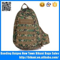 Woodland military canvas backpack chest bag