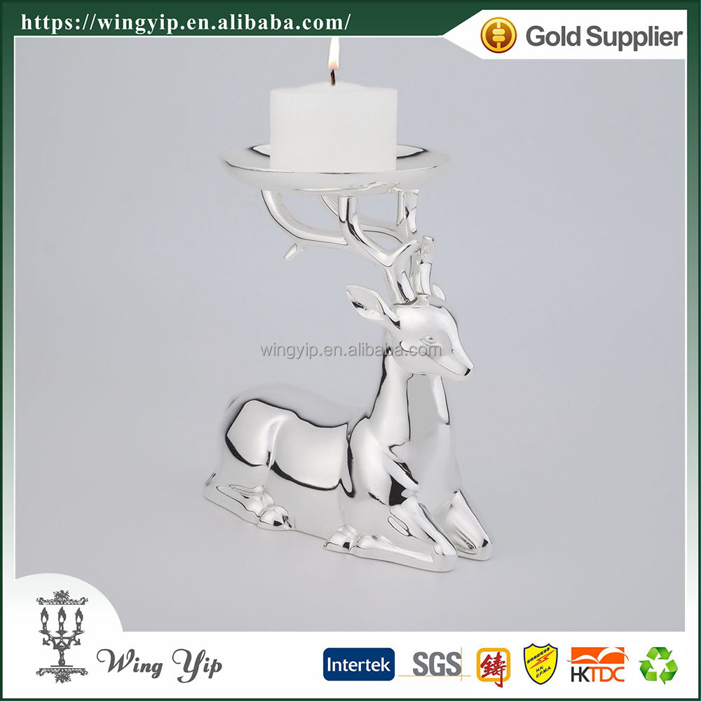 Wholesales Tailor made Reindeer Tealight Holder Silver Sovenir for Ornament