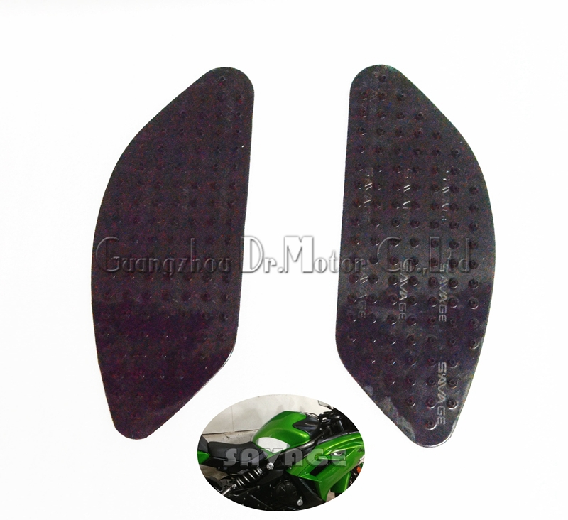 For KAWASAKI ER-6N ER-6F 2012-2014 Motorcycle Tank Traction Pad Side Gas Knee Grip Protector Anti slip sticker Black