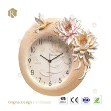 Hot Selling Factory Price Handmade Wall Clocks 3D Resin Wall Clock for Wholesale