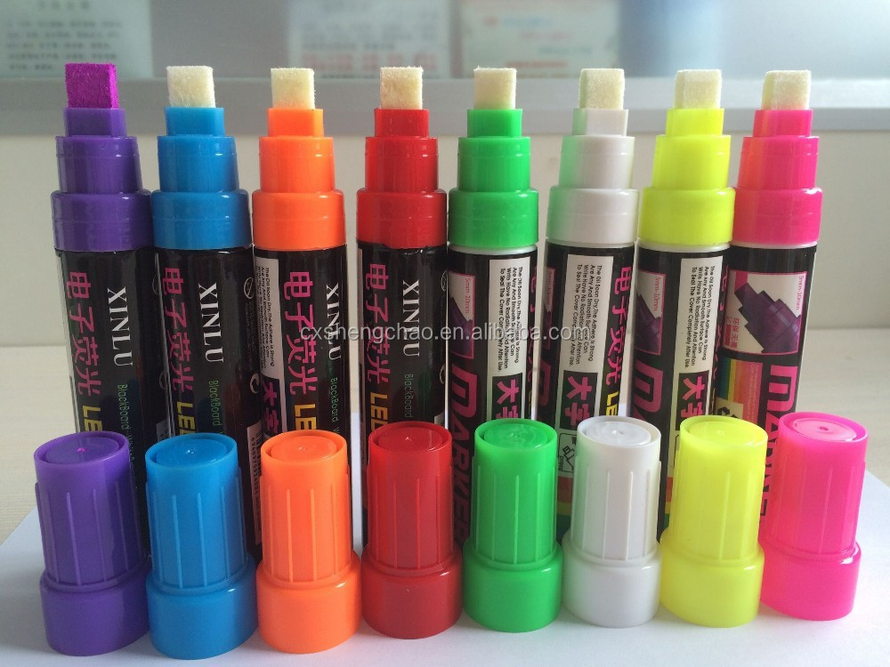 High quality erasable liquid chalk marker pen fluorescent pen for LED writing board