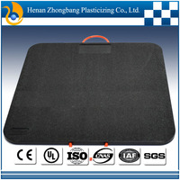hdpe plastic road plates/plastic tear drop plate/ground mats